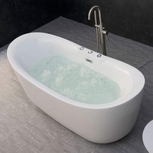 Whirlpool Water Jetted and Air Bubble Freestanding Bathtub, B-0034 / BTS1611, Whirlpool & Air Tub, 71″