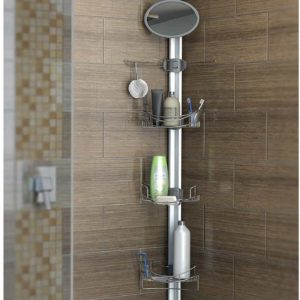 Artika Monsoon II Adjustable and Extendable Stainless Steel Baskets Corner Shower