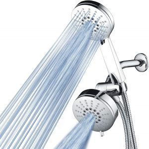 Luxury Shower Combo with High-Velocity Flow Accelerator(TM) for More Power with Less Water