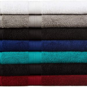 AmazonBasics 6-Piece Fade-Resistant Bath Towel Set