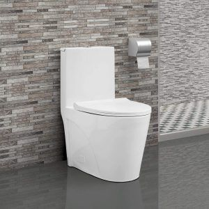 Swiss Madison SM-1T254 St. Tropez One Piece Toilet, 26.6 x 15 x 31 inches, Glossy White