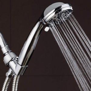 AquaDance High Pressure 6-Setting 3.5″ Chrome Face Handheld Shower with Hose for the Ultimate Shower Experience! Officially Independently Tested to Meet Strict US Quality & Performance Standards!